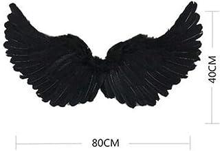 LEYUANA Niños maléfica alas Negras Reina Negra Demonio Malvado Chica gótica Cosplay Halloween Demonio Diadema Conjunto Medio