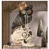 Bethany Lowe 14' Sir Wingston Black Owl Skull Retro Vintage Style Halloween Figurine Decor