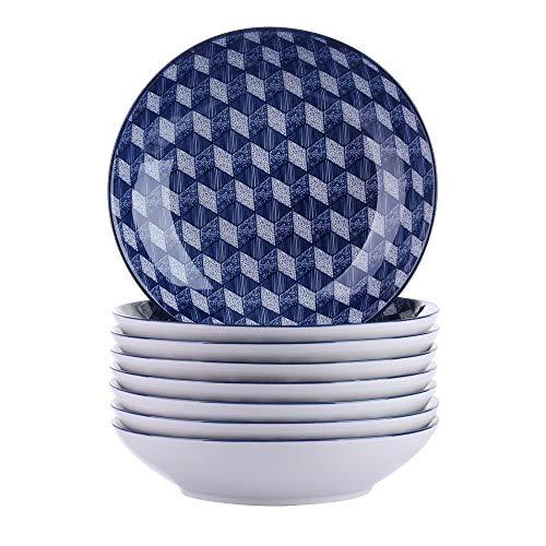 vancasso, série Aichi, Assiette Creuses, Assiette à Soupe, 8 pièces, en Porcelaine, Style Japonais (Aichi, 8 pièces)