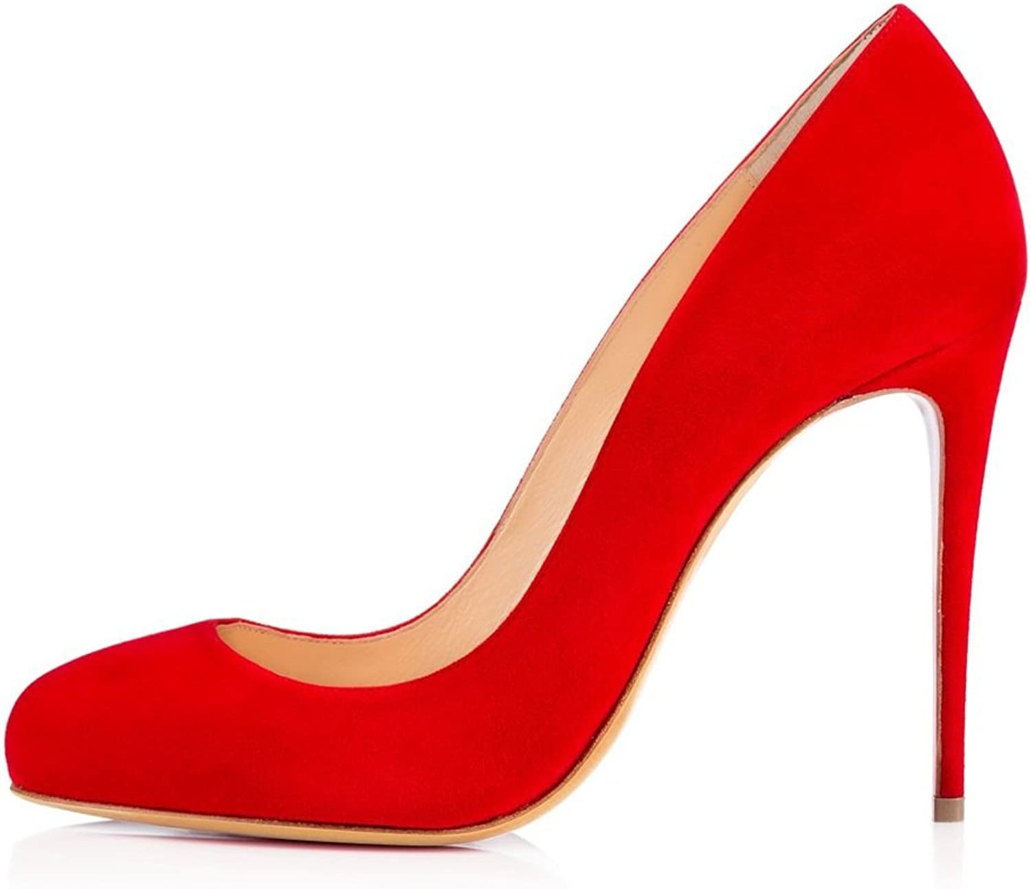 Sammitop Women's Closed Toe Pumps High Heel Round Toe Dress shoes Stiletto Party Prom Wedding shoes