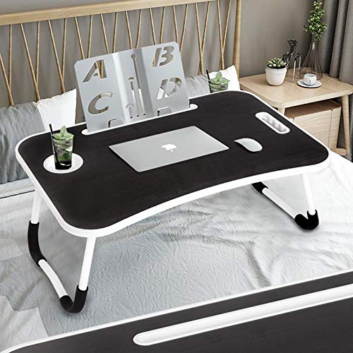 Lap Desk for Adults, Categorical Bed Trays for Eating and Laptops Tray Tables, MDF Small Table with Handle Storage Drawers - Children's Drawing Students Desk/Game Table