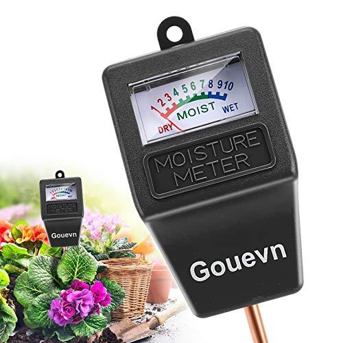 Gouevn Soil Moisture Meter, Plant Moisture Meter Indoor & Outdoor, Hygrometer Moisture Sensor Soil Tester Plant Water Meter for Potted Plants Garden, No Battery Needed (Black)