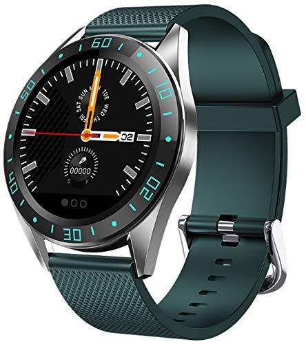 Smartwatch Uhr mit Blutdruckmessung Fitness Armband Damen Herren Pulsuhr Musik Wetter Kamera Sport IP67 Wasserdicht IOS Android