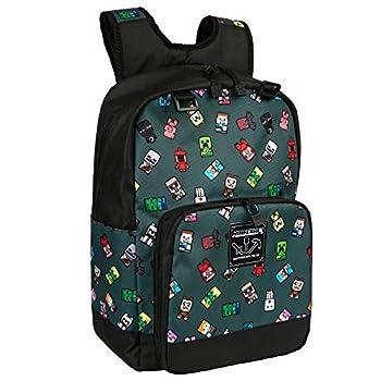 JINX Minecraft Bobble Mobs Kids School Backpack Gray 17