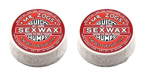 SexWax Quick Humps Mr Zogs Surfboard Wax / 5X Hard - Red Twin Pack