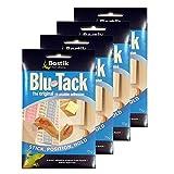 Bostik Blu Tack Original - Lote de 4 pasta adhesiva (60 g, no tóxica), color azul