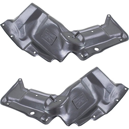 Evan-Fischer Engine Splash Shield Set of 2 Compatible with 2003-2008 Toyota Corolla Under Cover Right and Left Side Manual/Automatic