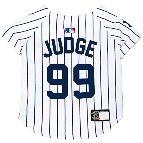 MLBPA Dog Jersey - Aaron Judge #99 Pet Jersey - MLB New York Yankees Mesh Jersey, Small