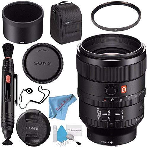 Sony FE 100mm f/2.8 STF GM OSS Lens SEL100F28GM + 72mm UV Filter + Lens Pen Cleaner + Fibercloth + Lens Capkeeper + Deluxe Cleaning Kit Bundle