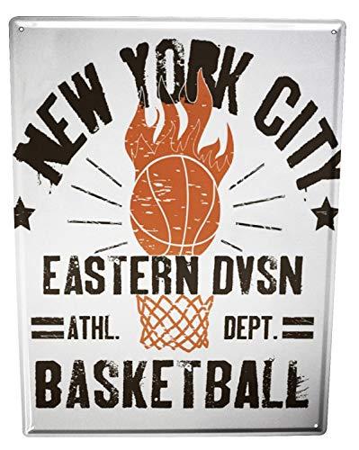 LEotiE SINCE 2004 Blechschild Wandschild 30x40 cm Vintage Retro Metallschild Sport New York Basketball