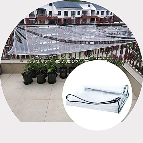 ZHANWEI Lona Impermeable Transparente, 0,5 Mm Espesor CLORURO DE POLIVINILO Transparente Paño De Lluvia, Balcón Planta...