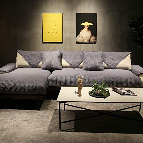 J-Kissen Reversible Sofa Cover, Gesteppte Couch Abdeckung rechteckige Möbel-Schutz-Husse for Haustiere Anti-Rutsch-Sofa Kissenüberzüge (Color : Gray, Size : 90x240cm(35x94inch))