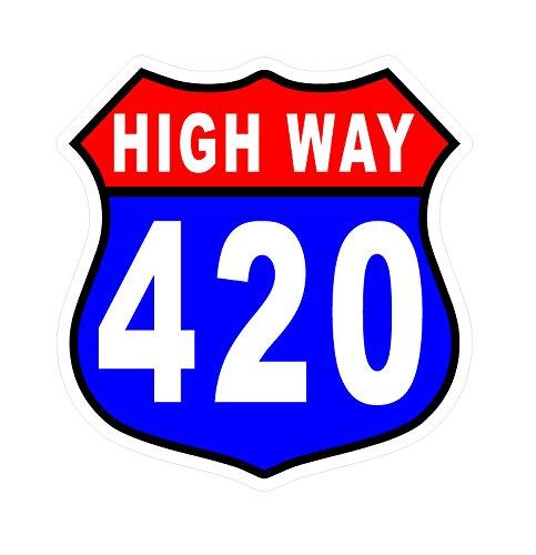5041 HIGH WAY 420 – 5″ decal / Bumper sticker