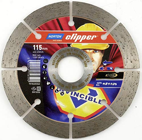 Norton Clipper universele schijf Mr Invincible 115 mm voor kleine haakse slijpers 115 x 22,23 mm