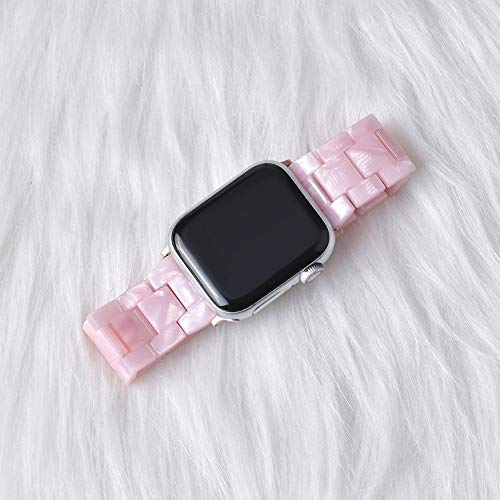 Hspcam Correa transparente de resina para Apple Watch Series 5, 4, 3, 2, 1, transparente para iwatch Correa de 38 mm, 40 mm, 42 mm, 44 mm (para 38 mm y 40 mm, 32)