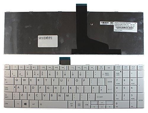 Keyboards4Laptops kompatibel Vereinigtes Königreich Gestaltung Weiß Windows 8 Laptop Tastatur Ersatz für Toshiba Satellite C850-1NL