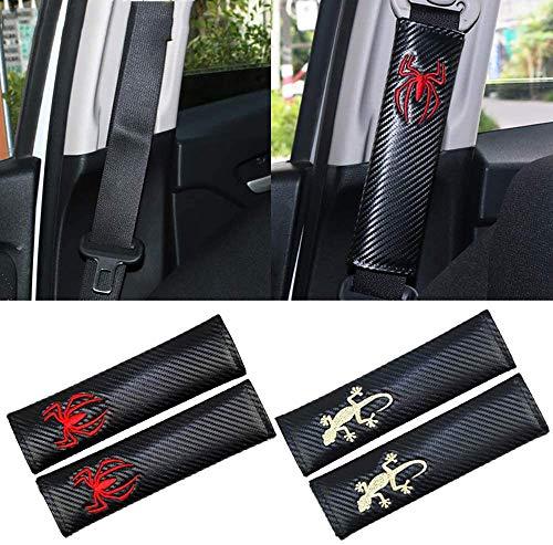 DENGD 2Pcs Car Seat Belt Padding Protection Covers, For BMW VW Seat lada renault KIA Subaru audi Peugeot mazda, Auto Safety Shoulder Strap Cushion Cover Pads