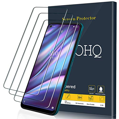 QHOHQ Schutzfolie für Wiko View 5/View 5 Plus, [3 Stück] Panzerglas Membran, 9H Festigkeit - Blasenfrei - Anti-Fingerabdruck - Anti-Kratz
