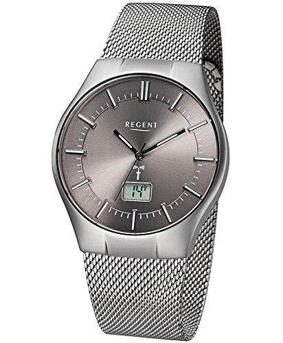 Regent Herren-Armbanduhr Analog, digital One Size, grau, silberfarben