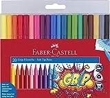 Faber-Castell 155320 - Fasermaler GRIP Colour Marker, 20er Etui