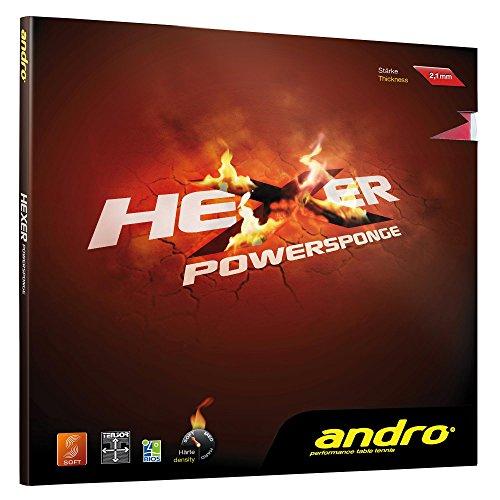 ANDRO Belag Hexer Powersponge, schwarz, 1,9 mm