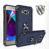 Galaxy J2 Prime Case,Samsung Grand Prime Plus/Go Prime/Grand Prime/G532 /G530 Case with HD Screen Protector,Gritup 360 Degree Rotating Ring Holder Kickstand Phone Case for J2 Prime Blue
