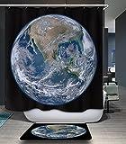 kisy Wasserdicht schimmelt nicht Dusche Badewanne Vorhang Magical Planet Earth Polyester Duschvorhang (180cm × 180cm)