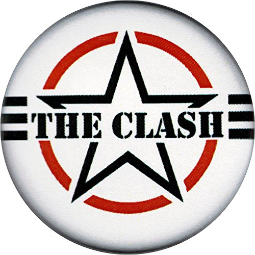 The Clash Star and Stripes Logo Button/Pin
