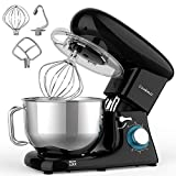 Cookmii Stand Mixer, 660W Dough Mixer with 5.5 Quart Stainless Steel Bowl, Kitchen Food Mixer with...