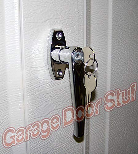 Great Price! Garage Door Lock L Handle Assembly - Two Keys Included, New