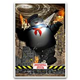 Ghostbusters stay puft marshmallow man, pop horror movie art with dictionary background