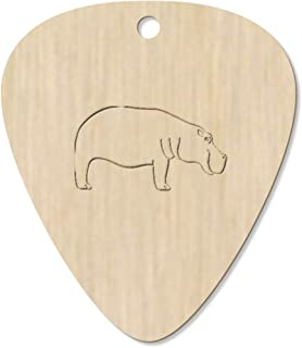 7 x 'Hippopotamus' Guitar Picks / Pendants (GP00019720)