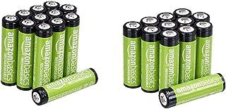 Amazon Basics Piles Rechargeables AA 2000mAh (Lot de 12) - Pré-chargées & Piles Rechargeables AAA, Pré-Chargées - Lot de 12