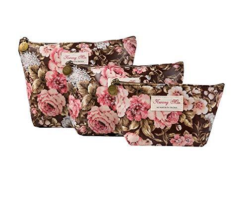 HOYOFO Makeup Bag Set 3PCS Waterproof Travel Toiletry Cosmetic Bags Sets Zipper Storage Makeup