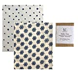 UC Urban Creative - Madhu Wrap (Beeswax Food Wraps)- Set of 2 Medium Wraps in Organic Fabric