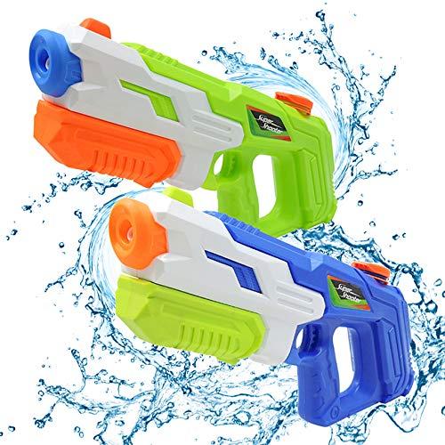 2er Pack wasserpistole ,Reichweite 9 Meter ,wasserpistole mit großer reichweite,wasserpistole spielzeug,wassergewehr für erwachsene kinder, Sommer Strand Pool Spielzeug für Kinder Erwachsener