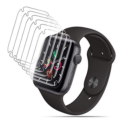 DASFOND Schutzfolie für Apple Watch Series 5/4 44mm /Series 3/2/1 42mm Folie,[Voller Schutz,Blasenfreie,Anti-Kratzer Und Dreck] HD klar Flexible TPU Bildschirmschutzfolie(2 Stück,Nicht Panzerglas)