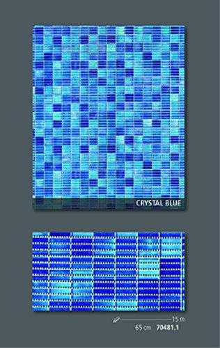 Friedola Bodenbelag Sympa Nova Premium Weichschaum Badematte Matte Crystal Blue 65 breit Meterware