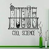 Vintage laboratorio pared vinilo química salón de clases artista casa ventana diseño