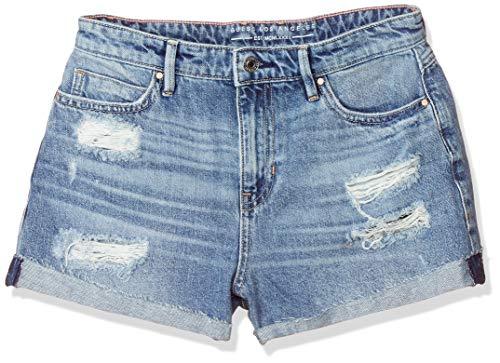 Guess Gemma Short Pantalones Cortos de Jean, BLU, 43491 para Mujer