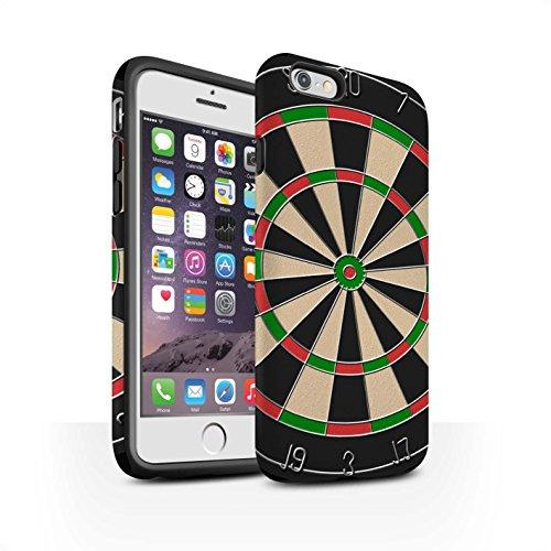STUFF4 Matte Harten Stoßfest Hülle / Case für Apple iPhone 6S / Darts/Dartpfeile Muster / Spiele Kollektion