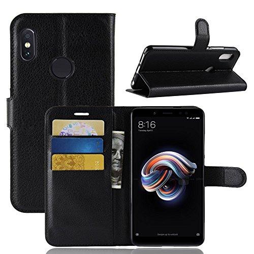 Capa Capinha Carteira Flip Wallet Case 360 Xiaomi Redmi Note 5/5 Pro Tela 5.99Couro Sintético Pronta Entrega (Preta)