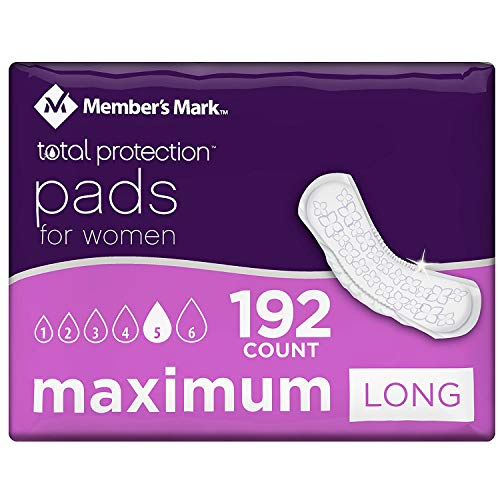 Member's Mark Total Protection Maximum Long Pads (192 ct.) (pack of 6)