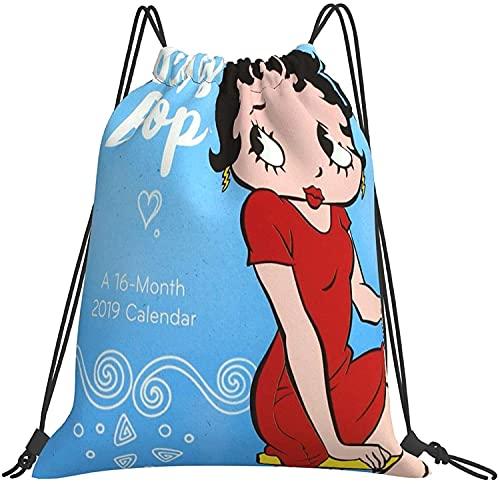 NIUPEE Bolsa de gimnasio Betty Boop Mochila para ordenador portátil, elegante mochila de colegio, repelente al agua, mochila informal para viajes, negocios, para hombres y mujeres