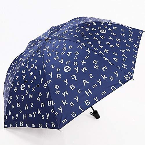 XKA Regenschirm Interessante Englische Buchstaben Regenschirm Regen Frauen Charms Faltschirm Für Frauen Winddichte Benutzerdefinierte Regenschirme