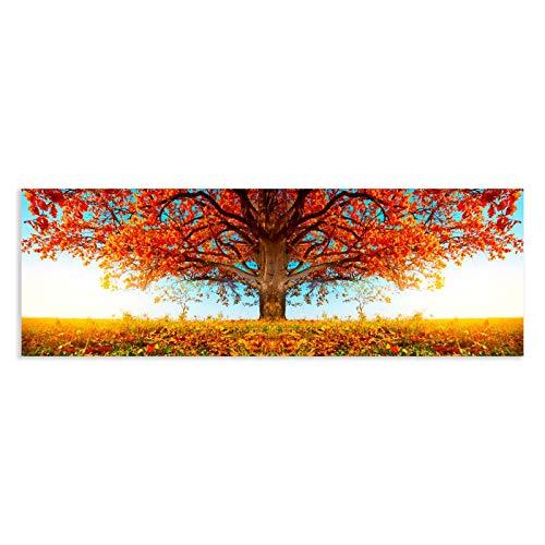 Cuadro de Árbol de la Vida en Lienzo Naranja de 180x60 cm - LOLAhome