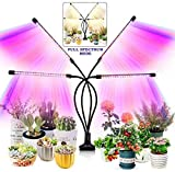 Grow Light for Indoor Plants, 2020 Upgraded 80 LEDs Full Spectrum 10 Dimming