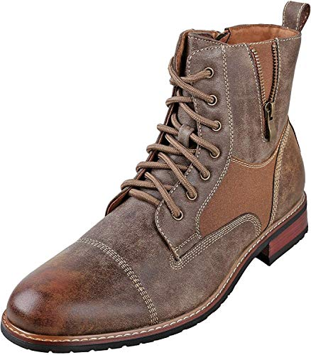 Ferro Aldo Andy Mens Ankle Boots | Combat | Lace Up | Fashion | Casual | Winter | Brown 8