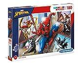 Clementoni 29302 Spiderman Clementoni-29302-Supercolor Puzzle-Spiderman-180 Teile, Mehrfarben