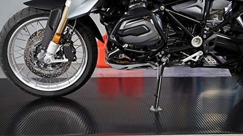 G-Floor Motorcycle Mat Garage Floor Protector - 3'x8' Midnight Black